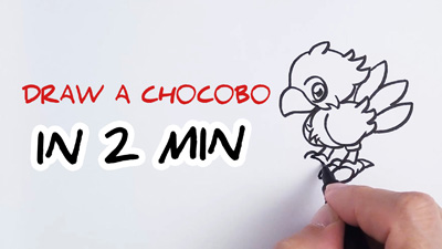 comment dessiner un Chocobo etape par etape facilement tutoriel how to draw Chocobo easy step by step