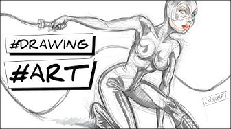 comment dessiner Catwoman tutoriel DC Comics Batman how to draw Catwoman easy step by step