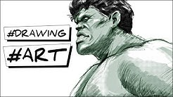 comment dessiner hulk tutoriel Marvel how to draw hulk easy step by step