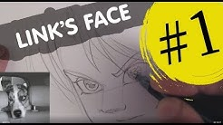 comment dessiner un portrait de link etape par etape facilement tutoriel how to draw link face easy step by step
