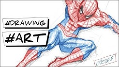 comment dessiner spiderman tutoriel Marvel how to draw spiderman easy step by step