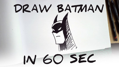 comment dessiner Batman etape par etape facilement tutoriel how to draw Batman easy step by step
