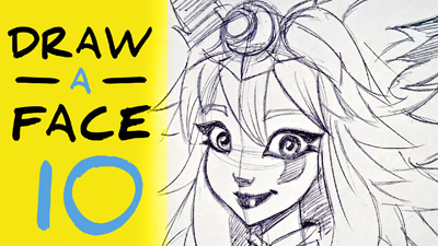 comment dessiner un visage etape par etape facilement tutorial how to draw a cartoon girl face easy step by step