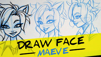 comment dessiner un visage etape par etape facilement de profil, 3 quart et de face - tutorial how to draw a cartoon girl face, front view side and 3 quarter view, easy step by step
