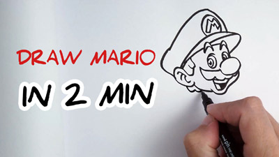 comment dessiner Mario etape par etape facilement tutoriel how to draw Mario face easy step by step