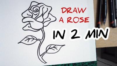 comment dessiner une rose etape par etape facilement tutoriel how to draw a rose easy step by step